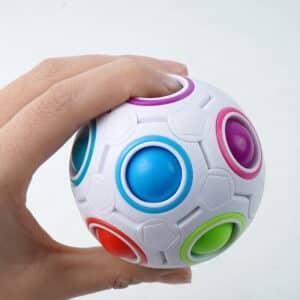 rainbow puzzle ball 1